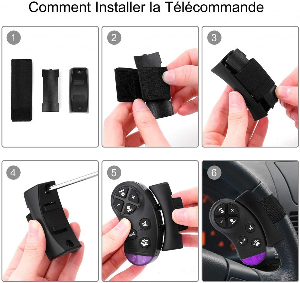 Télécommande au volant de l'autoradio Bluetooth Cenxiny