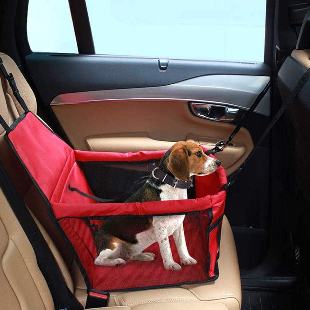 porte-si/ège pliant et /étanche pour chien avec ceinture de s/écurit/é et sac de rangement pour chiens et chats Si/ège dauto pour chien
