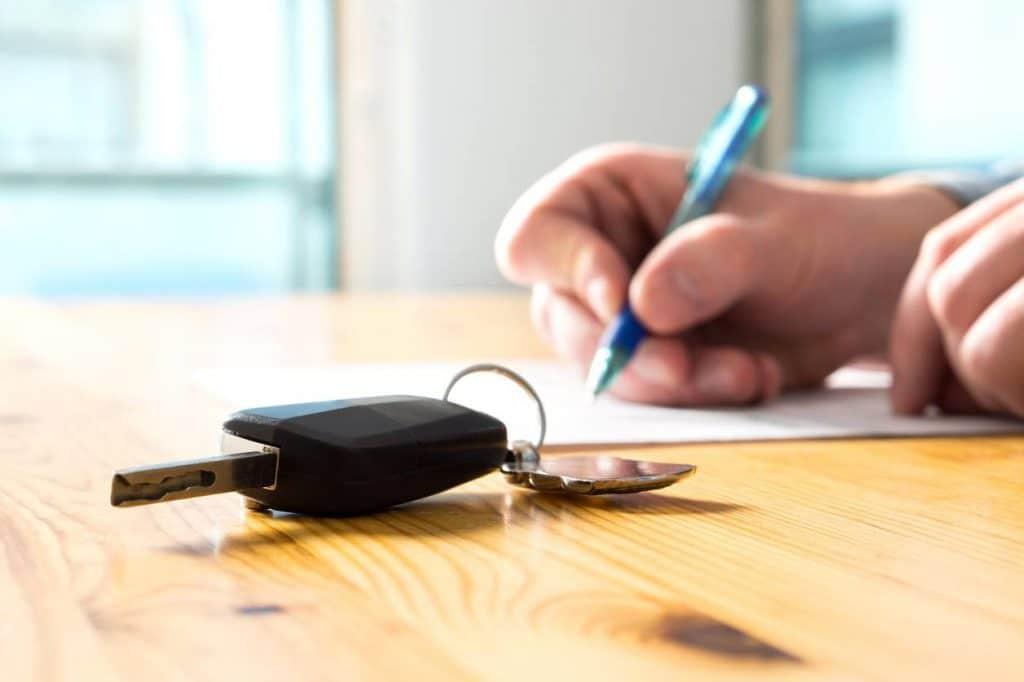 Contrat d'assurance location de voiture